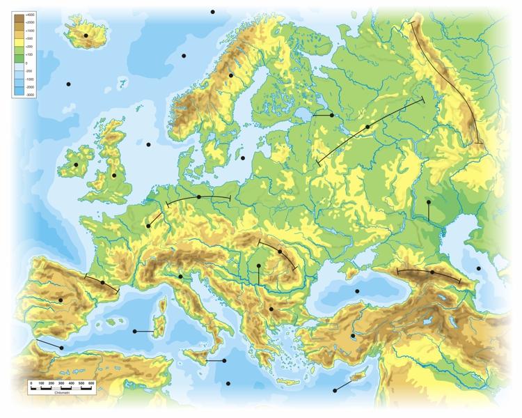 Immagini Cartina Fisica Europa.Europa Carta Fisica